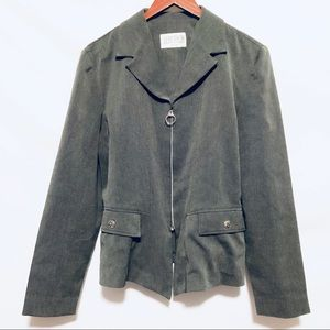 3/$10 Julián Taylor Grey/Black zip up blazer sz L